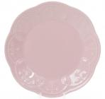 Набор 6 десертных тарелок Leeds Ceramics Ø23см, каменная керамика (розовые)