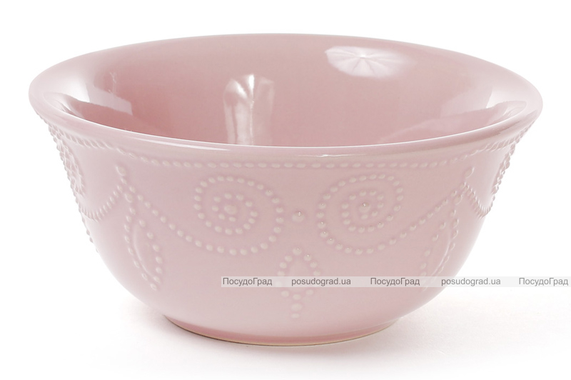 Набор 6 салатников (пиал) Leeds Ceramics 800мл, каменная керамика (розовые)