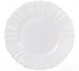 Набір 6 десертних тарілок Leeds Ceramics SUN Ø20см, кам'яна кераміка (білі)