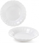Набір 6 глибоких тарілок Leeds Ceramics SUN Ø23см, кам'яна кераміка (білі)