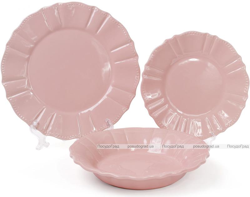 Набір 6 обідніх тарілок Leeds Ceramics SUN Ø26см, кам'яна кераміка (рожеві)