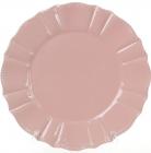 Набор 6 обеденных тарелок Leeds Ceramics SUN Ø26см, каменная керамика (розовые)