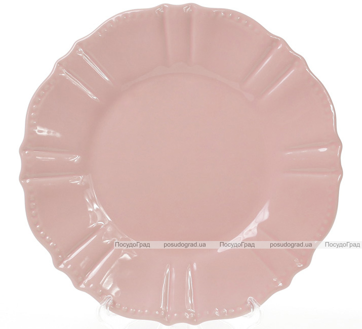 Набор 6 десертных тарелок Leeds Ceramics SUN Ø20см, каменная керамика (розовые)