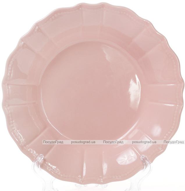 Набір 6 глибоких тарілок Leeds Ceramics SUN Ø23см, кам'яна кераміка (рожеві)