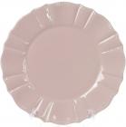 Набор 6 обеденных тарелок Leeds Ceramics SUN Ø26см, каменная керамика (розовый-пепельный)