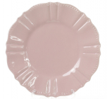 Набор 6 десертных тарелок Leeds Ceramics SUN Ø20см, каменная керамика (розовый-пепельный)