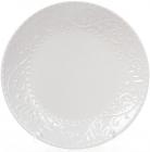 Набор 6 обеденных тарелок Leeds Ceramics Ø27.5см, каменная керамика (белые)