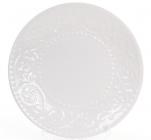 Набір 6 десертних тарілок Leeds Ceramics Ø21.5см, кам'яна кераміка (білі)