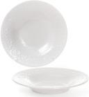Набір 6 супових тарілок Leeds Ceramics Ø23см, кам'яна кераміка (білі)