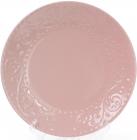 Набор 6 обеденных тарелок Leeds Ceramics Ø27.5см, каменная керамика (розовые)