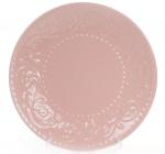 Набор 6 десертных тарелок Leeds Ceramics Ø21.5см, каменная керамика (розовые)