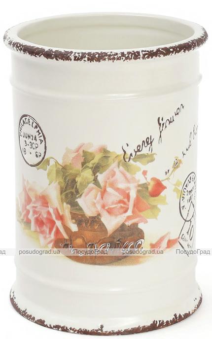 """Підставка-стакан """"Провансальська Троянда"""" для кухонних інструментів"""