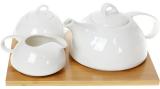 Набір для чаю Nouvelle Home Глянець чайник, молочник і цукорниця на підставці