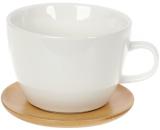 Чайная пара Nouvelle Home Глянец кружа 450мл с бамбуковым блюдцем
