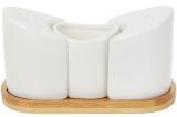 Набір для спецій Nouvelle Home Фьюжн 12.5х5.8х7.5см, сіль/перець і підставка для зубочисток