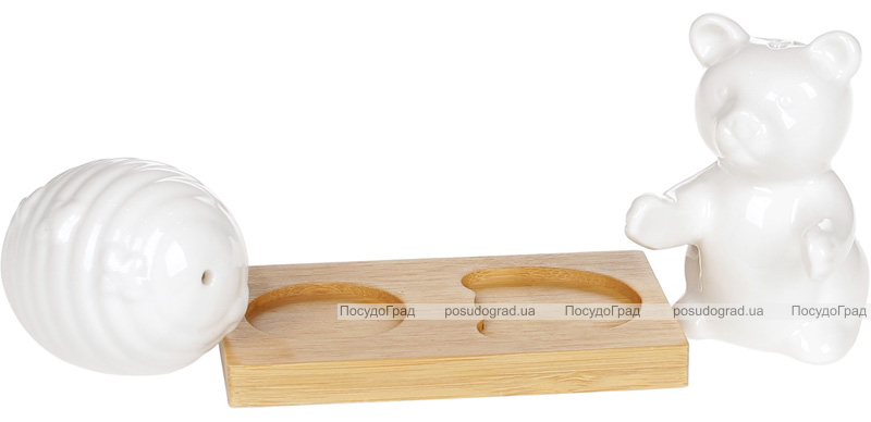"Набор для специй Nouvelle Home ""Мишка с медовницей"" 9.8х6х8см"