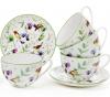 """Чайный фарфоровый набор """"Кантри"""" 6 чашек 210мли с блюдцами (12 предметов)"""
