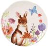 """Набор 4 пасхальные фарфоровые тарелки """"Зайцы на лугу"""" Ø21.3см"""