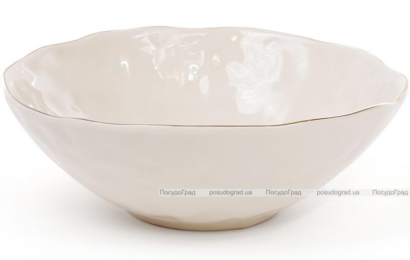 Салатник керамічний Bergamo 1.1л, колір слонової кістки