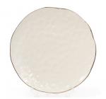 Набір 4 тарілки Bergamo Ø21.5см, колір слонової кістки