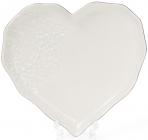 Набор 4 тарелки Bergamo Сердце 19х16см, кремовый