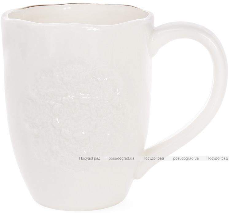 Кружка керамическая Bergamo 475мл, кремовая