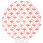"""Набір 4 тарілки """"Рожевий фламінго"""" Ø21.5см фарфор з тисненням"""