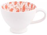 """Набір 2 чашки """"Рожевий фламінго"""" 300мл фарфор з тисненням"""