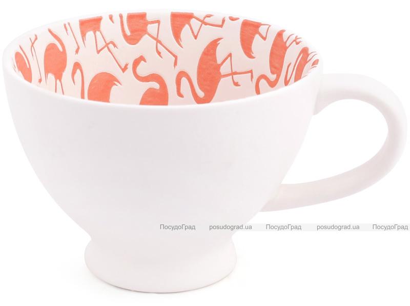 "Набор 2 чашки ""Розовый фламинго"" 300мл фарфор с тиснением"