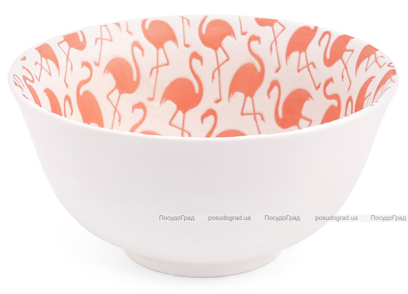 "Набор 4 пиалы ""Розовый фламинго"" 650мл фарфор с тиснением"