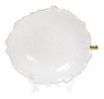 "Набор 2 салатника Bergamo ""Лист"" 550мл, белая керамика"
