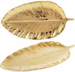 "Набор 6 блюд Bergamo ""Золотой лист"" 24.8х12.9х2.1см, золото"