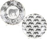 Набор 4 фарфоровых тарелки Wild Style Ø21.3см