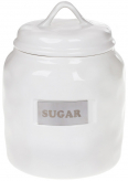 "Банка фарфорова Necollie ""Sugar"" 900мл, біла"