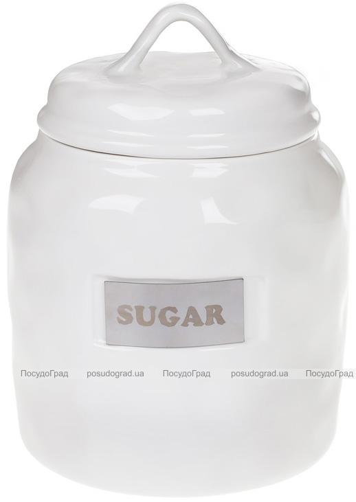 "Банка фарфоровая Necollie ""Sugar"" 900мл, белая"
