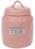 """Банка фарфоровая Necollie """"Tea"""" 900мл, розовая"""