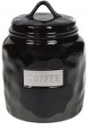 "Банка фарфорова Necollie ""Coffee"" 900мл, чорна"