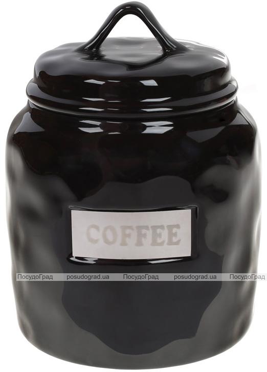 "Банка фарфоровая Necollie ""Coffee"" 900мл, черная"