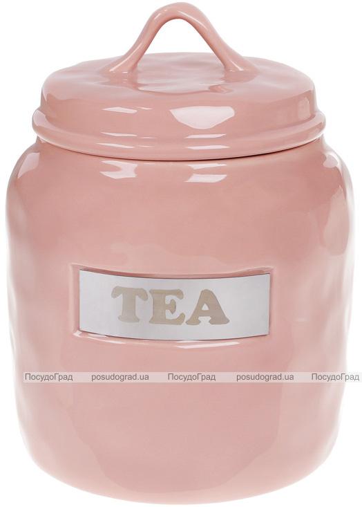 """Банка фарфорова Necollie """"Tea"""" 1500мл, рожева"""