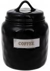 "Банка фарфоровая Necollie ""Coffee"" 1500мл, черная"