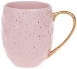 """Набір 4 кружки """"Золоті краплі"""" 350мл, рожевий"""