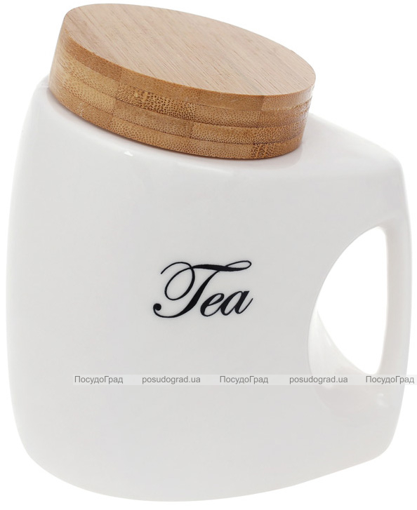 """Банка порцелянова Nouvelle Home """"Tea"""" 1л з бамбуковою кришкою"""