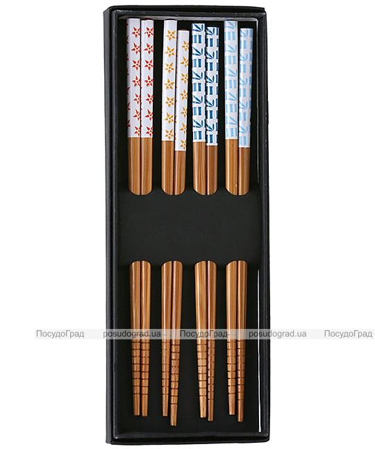 """Набор """"ЭКО-стиль"""" 4 пары подарочных бамбуковых палочек"""