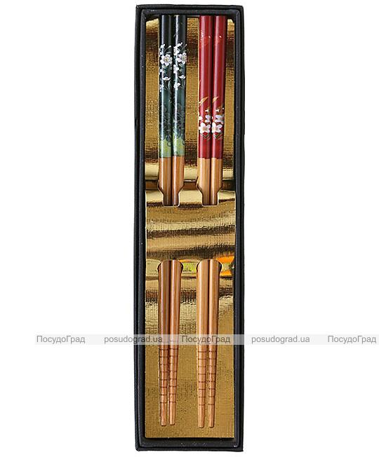 """Набор """"ЭКО-стиль"""" 2 пары подарочных палочек из бамбука"""