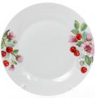 """Набір 6 порцелянових обідніх тарілок """"Вишня"""" Ø27см"""