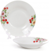 """Набір 6 порцелянових супових тарілок """"Вишня"""" Ø23см"""
