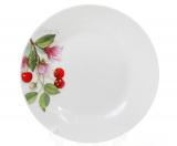 """Набір 6 порцелянових десертних тарілок """"Вишня"""" Ø19см"""