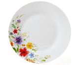 """Набір 6 порцелянових десертних тарілок """"Квіти аквареллю"""" Ø19см"""