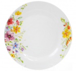 """Набір 6 порцелянових обідніх тарілок """"Квіти аквареллю"""" Ø23см"""