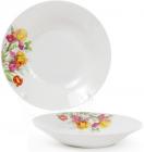 """Набір 6 порцелянових супових тарілок """"Вогненні іриси"""" Ø23см"""